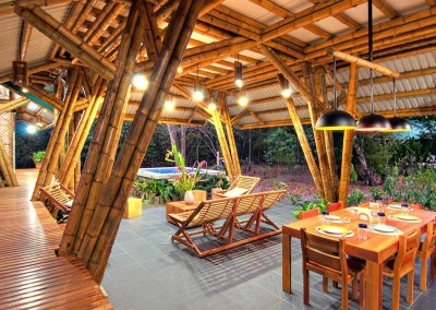 Bamboo Dinning Outside