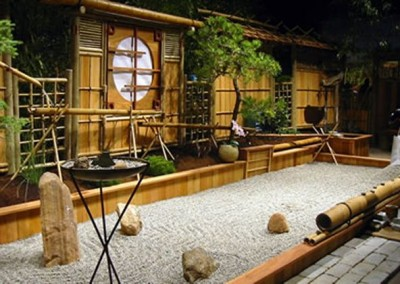 Bamboo Outdoor Rock Garden