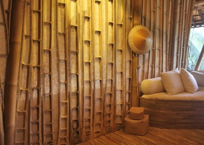 Bamboo Walls and Seat