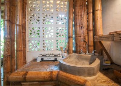 Bamboo kitchen sink