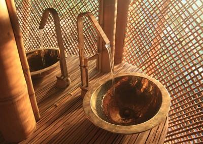 Bamboo stone washbasin