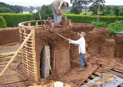 Cob House Construction Walls