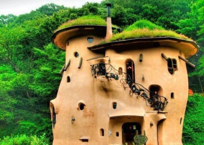 Cob House Round Orange Castle