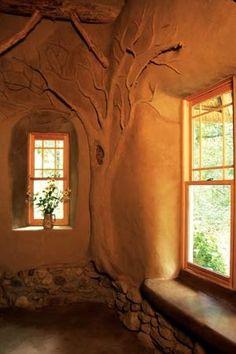 Cob House Window Detail