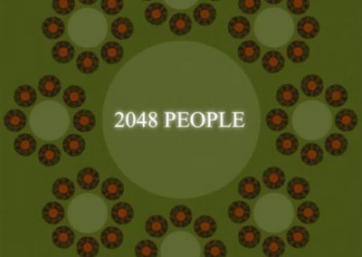 Community of 2048 People Village 1000 Diameter