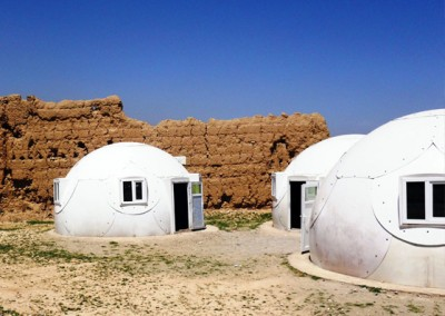 Domes Prefabricated in Dessert
