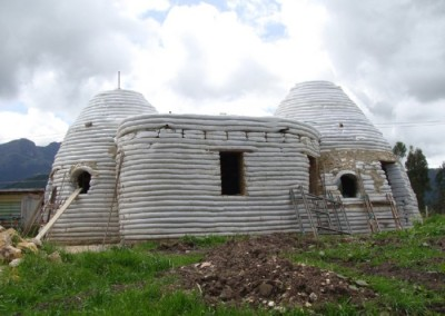 EarthBag Home Under Construction