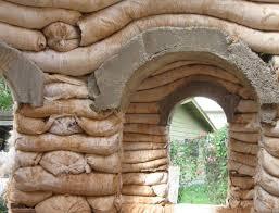 Earthbag Concrete Arch