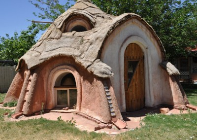 Earthbag Home with Grass Roof