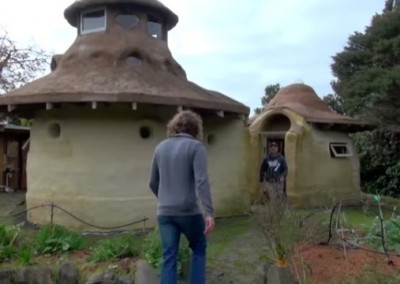 Earthbag Twin Homes