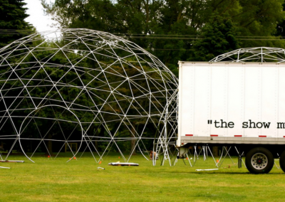 GeoDome 60' Next to Truck
