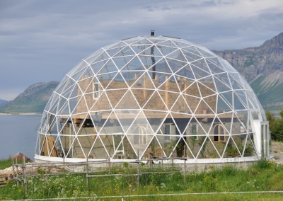 Geodesic Dome Surrounding a Home