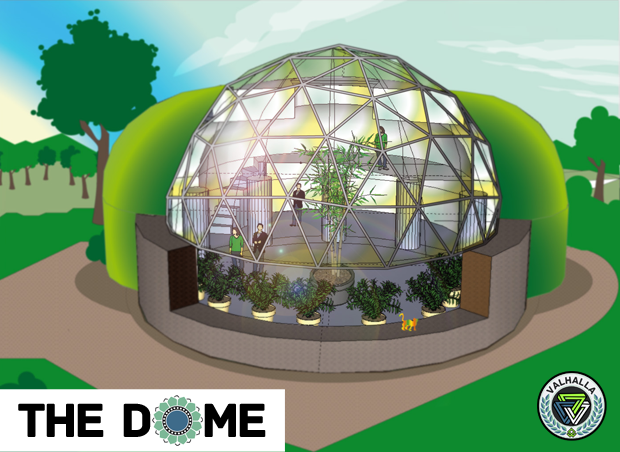 geodesic dome underground north side - Dome Greenhouse Designs