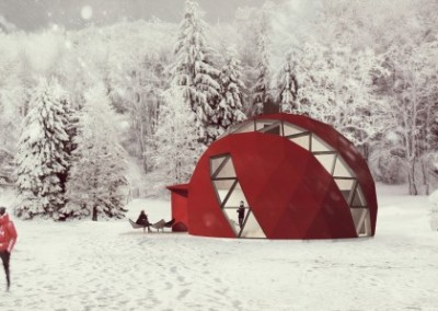 Geodesic Winter Dome Home