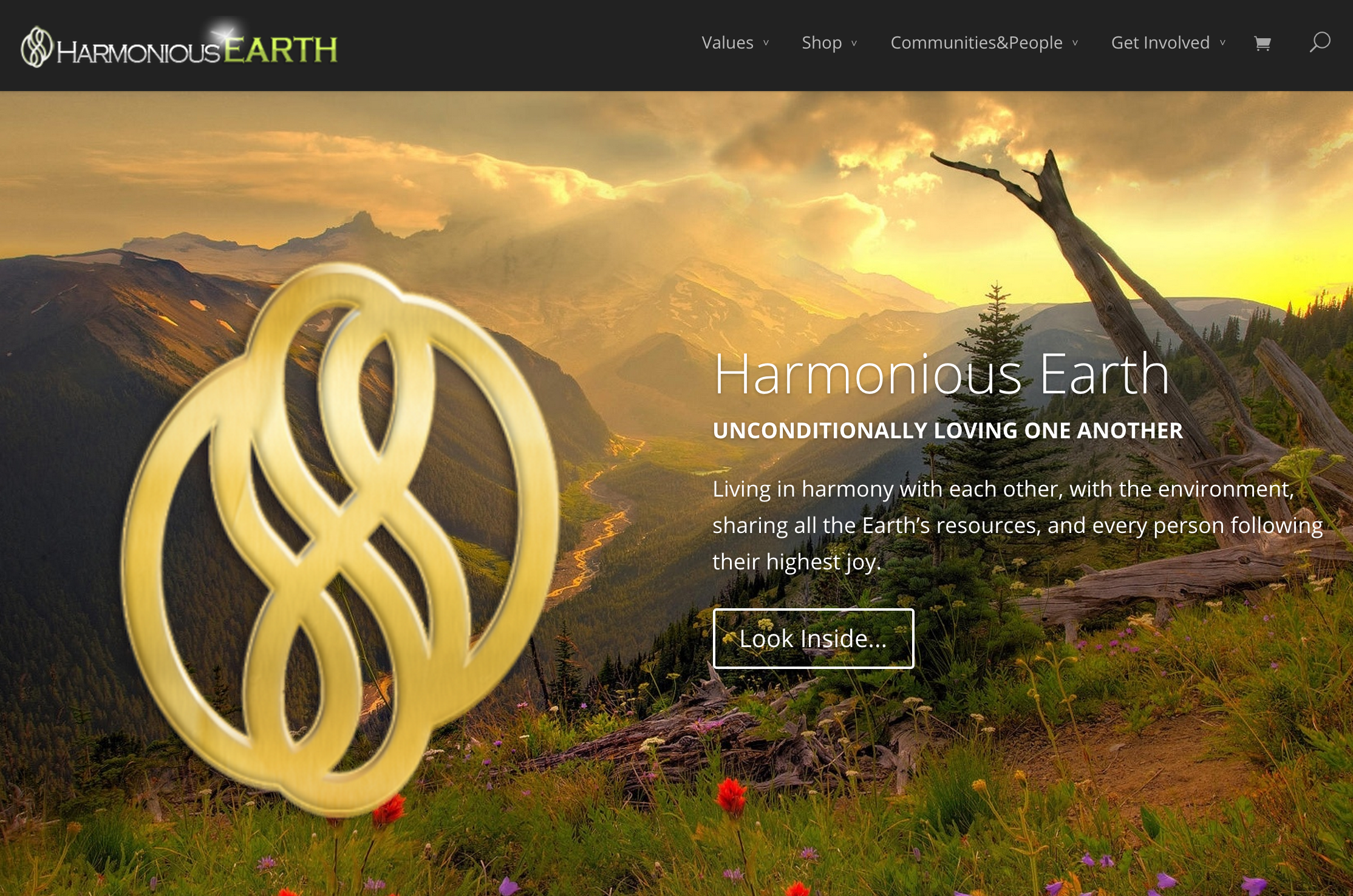 Harmonious Earth Website Home Page