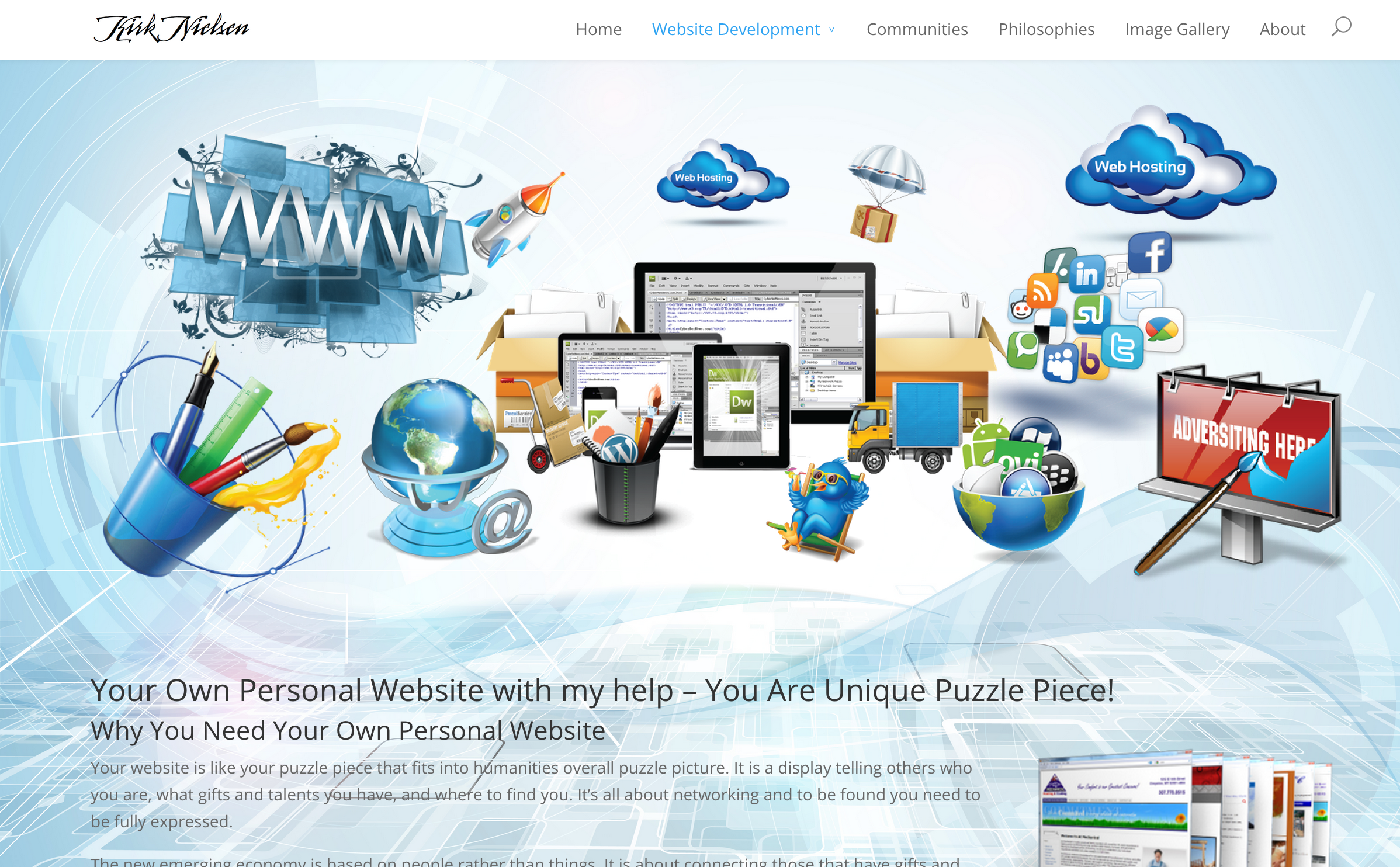 Kirk Nielsen Puzzle Piece Websites Home Page