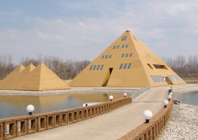 Pyramid Gold House
