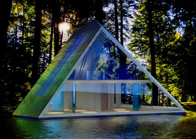 Pyramid Home on Lake