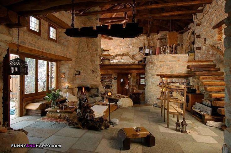 bamboo house interior design, wood house interior design, books house interior design, adobe house interior design, on earthbag house interior design