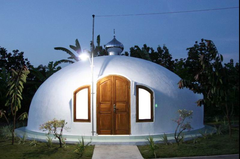 White Dome at Night