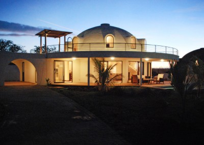 Luxury Dome Home at Night